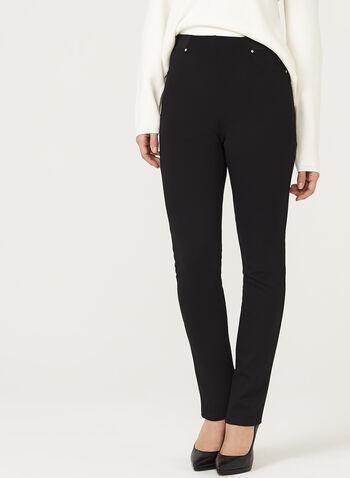 Straight Leg Pull On Pants, , hi-res