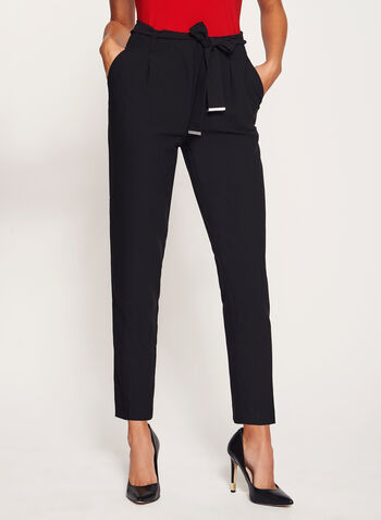 Tie Belt Straight Leg Pants, , hi-res