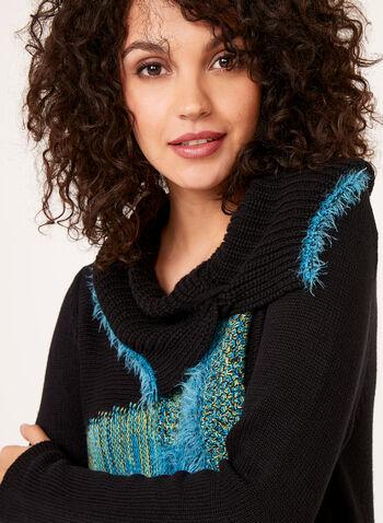 Alison Sheri - Split Turtleneck Knit Sweater, , hi-res