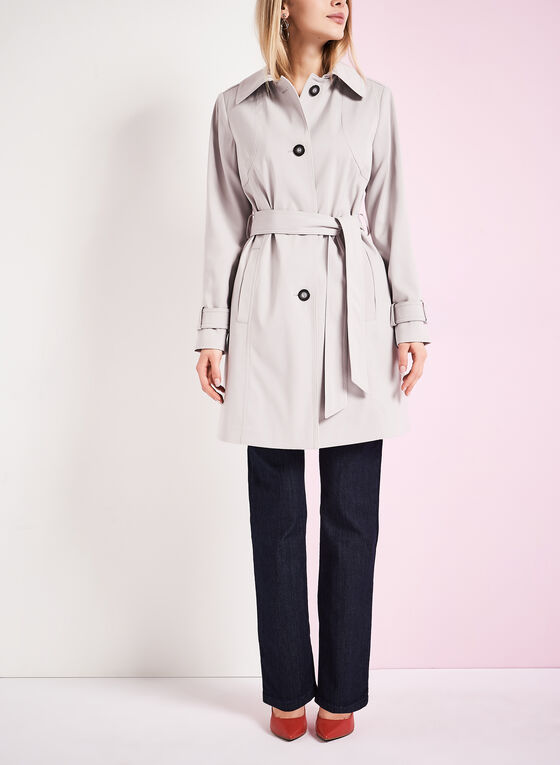 Nuage Belted Trench Coat , Silver, hi-res