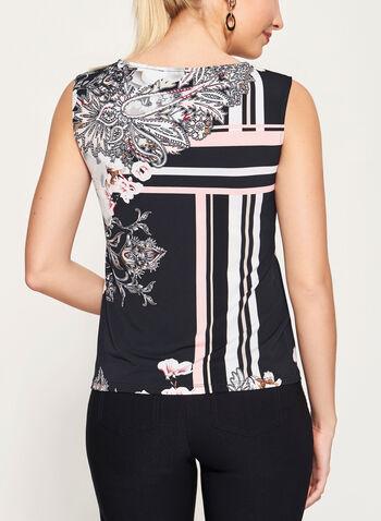 Sleeveless Floral Print Jersey Top, , hi-res