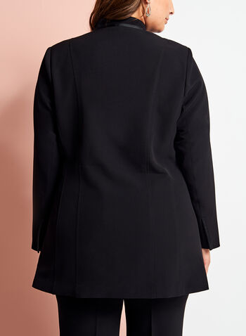 Open Front Single Button Jacket, , hi-res