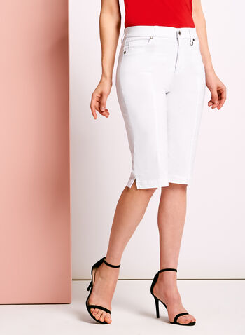 Simon Chang - Microtwill Bermuda Shorts, White, hi-res