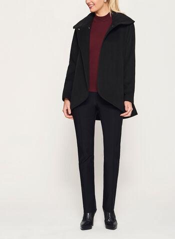 Manteau col châle imitation laine, , hi-res