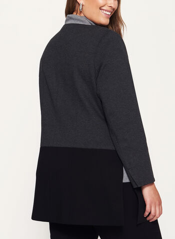 Two-Tone Ponte Jacket , , hi-res