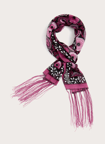 Abstract Glitter Pashmina Scarf, , hi-res