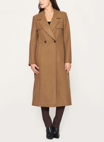 Novelti - Wool-Like Double Breasted Coat, , hi-res