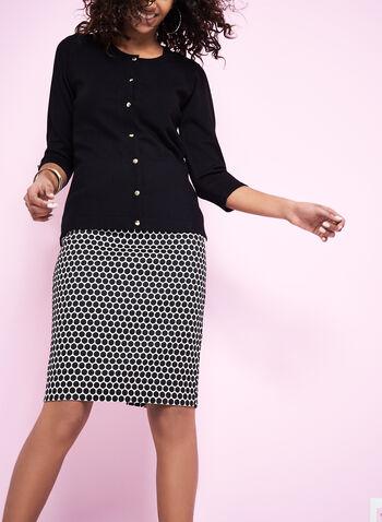 3/4 Sleeve Knit Cardigan, , hi-res
