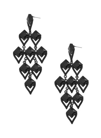 Diamond Shaped Chandelier Earrings, , hi-res