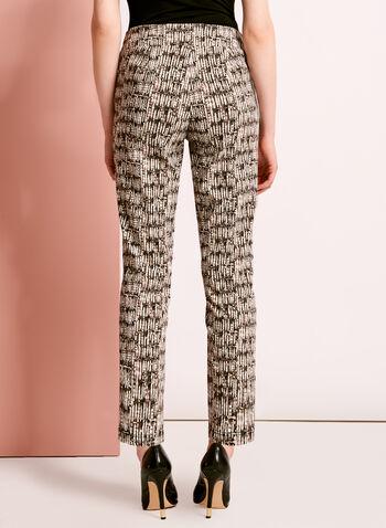 Pantalon 7/8 à motif abstrait, , hi-res