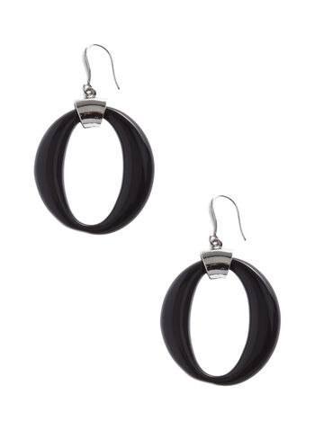 Oval Dangle Earrings, , hi-res