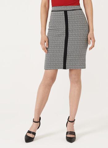 Houndstooth Knit Pencil Skirt, , hi-res