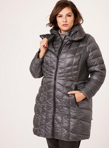 B by Bernardo - PrimaLoft® & Down Filled Packable Coat, , hi-res