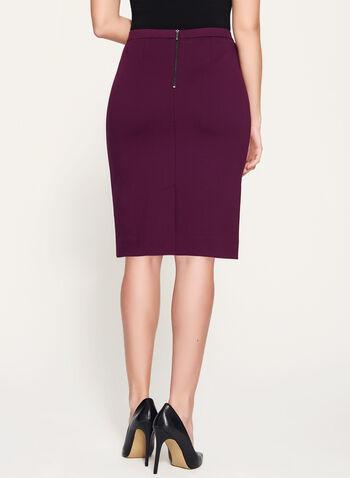 Ponte Back Slit Pencil Skirt  , , hi-res