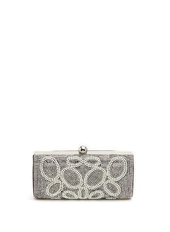 Crystal & Pearl Embellished Clutch, , hi-res