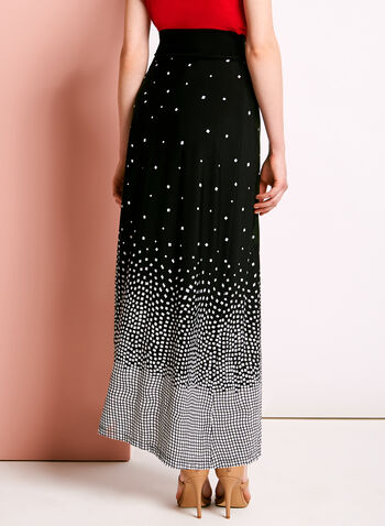 Geometric Print Maxi Skirt, , hi-res