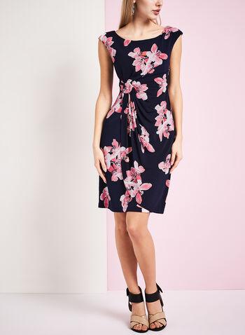 Jersey Floral Print Dress, , hi-res