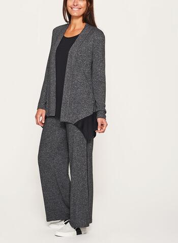 Contrast Melange Knit Cardigan, , hi-res