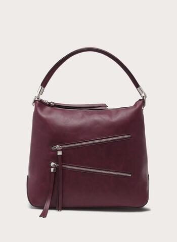 Zip Detail Hobo Bag, , hi-res