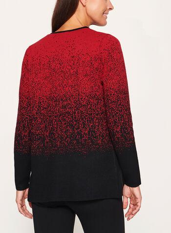 Cascading Front Knit Cardigan, , hi-res