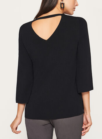 3/4 Flare Sleeve Knit Sweater, , hi-res