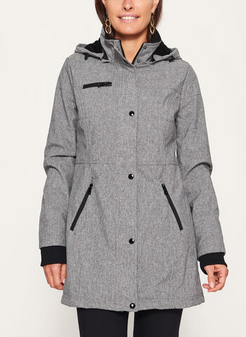 Structured Softshell Coat, , hi-res