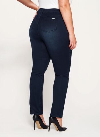 Tummy Control Slim Leg Jeans, , hi-res