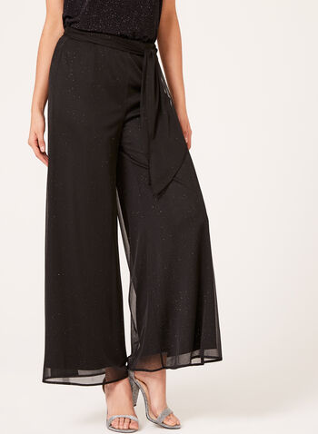 Pantalon pull-on en mousseline brillante, , hi-res