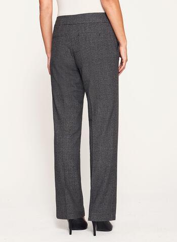Glen Check Modern Fit Wide Leg Pants, , hi-res