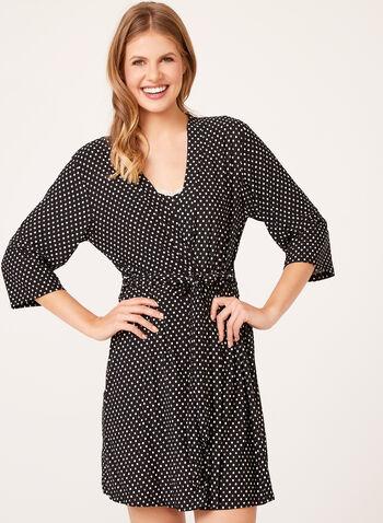 René Rofé - Dot Print Nightgown with Matching Robe , , hi-res