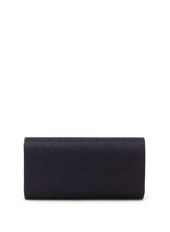 Metallic Trim Glitter Envelope Clutch  , , hi-res