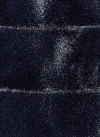 Rabbit Fur Tube Scarf , Blue, hi-res