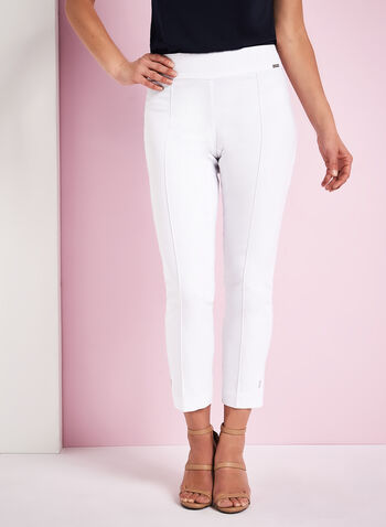 Pantalon à pinces en bengaline, , hi-res