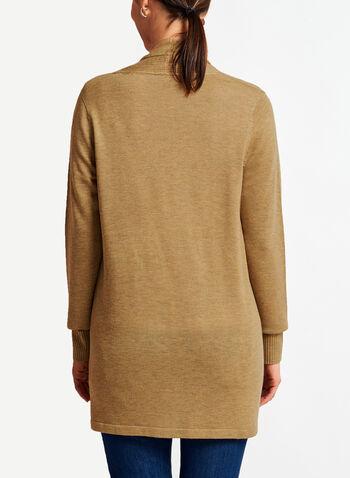 Knit Shawl Collar Cardigan , , hi-res