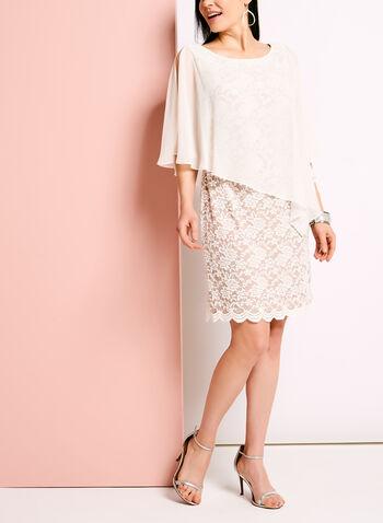 Cold Shoulder Lace Poncho Dress, , hi-res