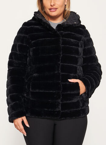 Nuage - Faux Fur Reversible Coat, , hi-res