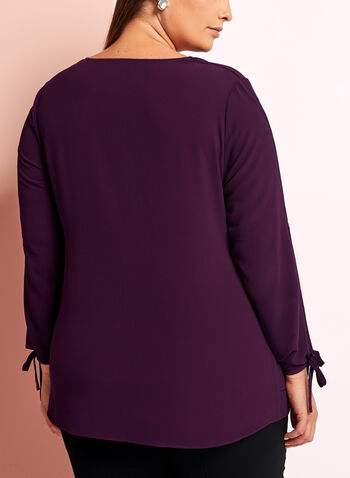 Long Sleeve Crepe Blouse , , hi-res
