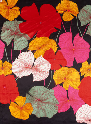 Floral Print Square Scarf, , hi-res