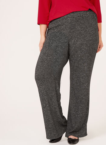 Wide Leg Pull-On Pants, , hi-res