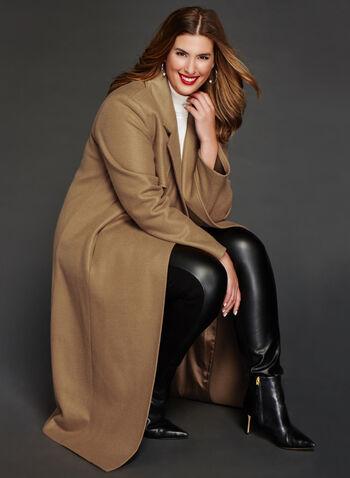 Novelti - Wool-Like Double Breasted Coat, , hi-res