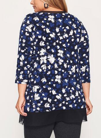 3/4 Sleeve Jersey Tunic Top , , hi-res