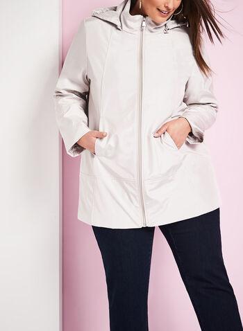 Novelti Iridescent A-Line Coat , , hi-res