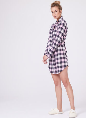 U.S. Polo Assn. - Check Flannel Nightgown, , hi-res